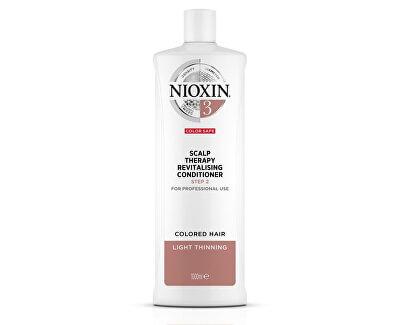 Revitalizér pokožky pro jemné barvené mírně řídnoucí vlasy System 3 (Conditioner System 3)