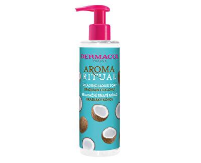 Săpun lichid relaxant Aroma Ritual Brazilský nucă de cocos (Relaxing Liquid Soap) 250 ml
