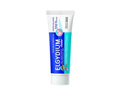 Gelová zubní pasta s fluorinolem a příchutí žvýkačky pro děti 7-12 let Junior 50 ml