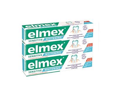 Bělicí zubní pasta pro citlivé zuby Sensitive Whitening Trio 3x 75 ml