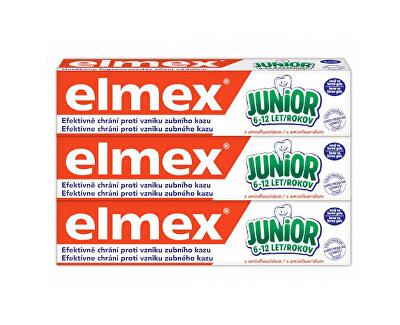 Dětská zubní pasta Junior Trio 3 x 75 ml