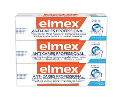 Zubní pasta Anti Caries Professional Trio 3 x 75 ml