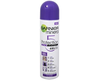 Minerální antiperspirant 5 Protection Floral Fresh 48h ve spreji pro ženy 150 ml