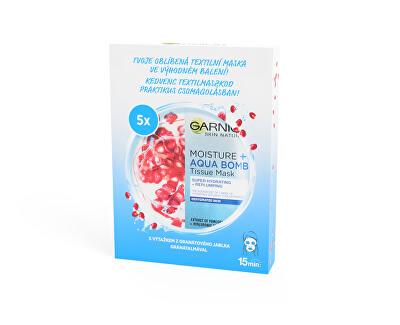Super hydratační vyplňující maska Moisture&Aqua Bomb (Skin Tissue Superhydrating Mask) 5 ks