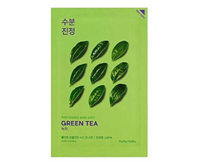 Plátýnková maska pro citlivou a zarudlou pleť Green Tea (Pure Essence Mask Sheet) 20 ml
