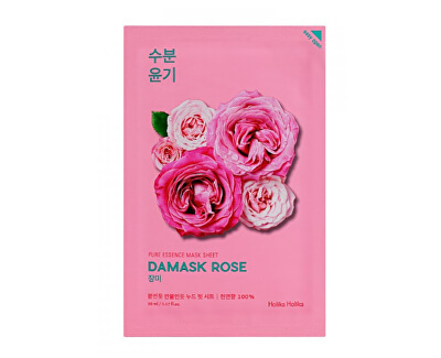 Zvláčňující plátýnková maska s výtažkem z damašské růže Damask Rose (Pure Essence Mask Sheet) 20 ml