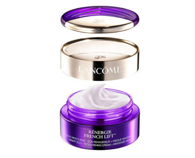 Noční krém s masážním diskem Rénergie French Lift (Night Duo-Retightening Cream + Massage Disk) 50 ml