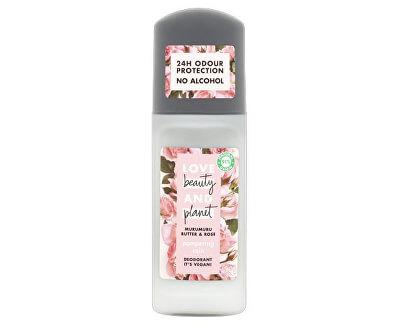 Deodorant roll-on bez alkoholu a hliníku s růžovým olejem a máslem muru muru (Pampering Deodorant) 50 ml