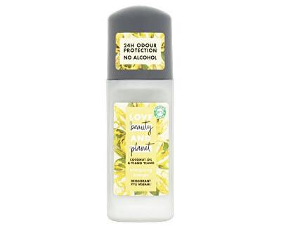 Energizující deodorant roll-on bez alkoholu a hliníku s ylang-ylang a kokosovým olejem (Energizing Deodorant) 50 ml