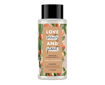 Hydratační šampon s bambuckým máslem a santalovým dřevem (Happy & Hydrated Shampoo) 400 ml
