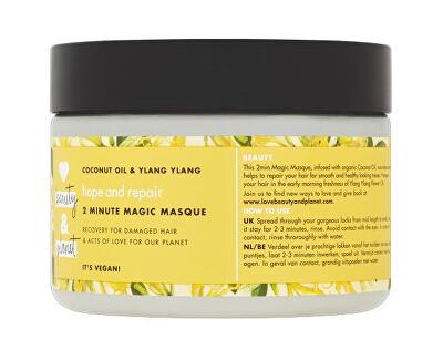 Maska na suché a poškozené vlasy s ylang-ylang a kokosovým olejem (Hope and Repair 2 Minute Magic Masque) 300 ml