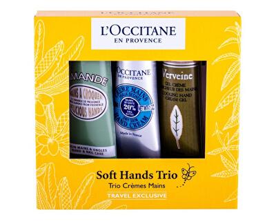 Set cosmetic pentru îngrijirea mâinilor Soft Hands Trio Set 3 x 30 ml