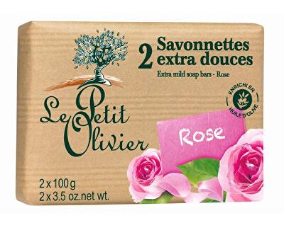 Extra jemné mýdlo Růže 2 x 100 g