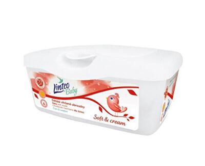 Vlhčené ubrousky pro děti Soft & Cream + box 72 ks