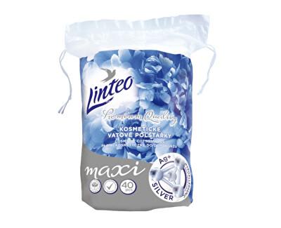 Kosmetické vatové polštářky Premium Quality Silver 40 ks