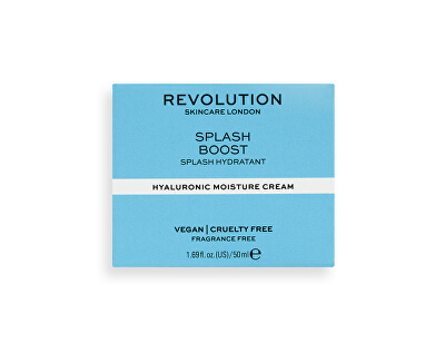 Cremă hidratantă Revolution Skincare (Splash Boost with Hyaluronic Acid) 50 ml