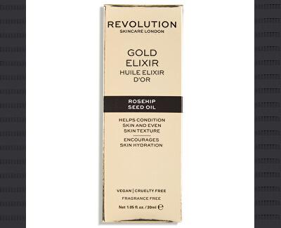 Pleťové sérum s šípkovým olejem (Revolution Skincare Rosehip Seed Oil-Gold Elixir) 30 ml - SLEVA - pomačkaná krabička