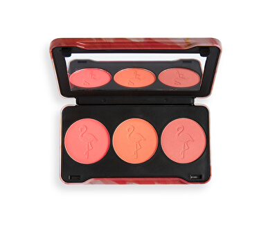 Paleta fard de obraz Flamingo Mini Trio Oh My Blush 22 g