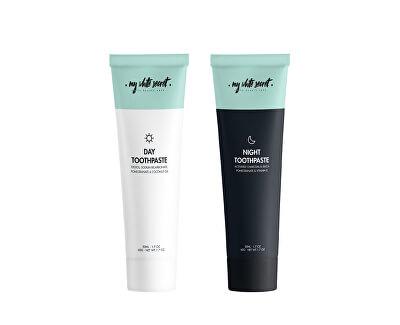 Denní a noční bělicí zubní pasta (Day & Night Toothpaste) 2 x 65 g