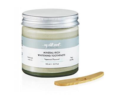 Pasta de dinți pentru albire cu minerale în recipient de sticlă(Mineral --Rich Whitening Toothpaste) 60 ml