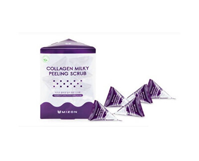 Jemný pleťový peeling s mléčným proteinem a mořským kolagenem (Collagen Milky Peeling Scrub) 24 x 7 g