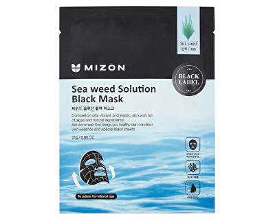 Mască nutritivă cu alge marine(Sea Weed Solution Black Mask) 25 g