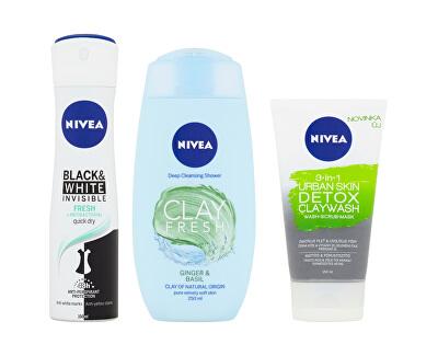 Kosmetická sada pro ženy Clay Freshness