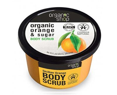 Peeling de zahăr tonifiant Organic Orange & Sugar (Body Scrub) 250 ml