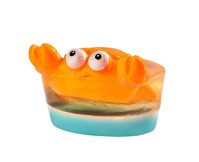 Tuhé glycerinové mýdlo Blue & CrabBig Toy (Glycerine Soap) 80 g