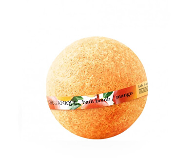 Bilă de baie hidratantă cu sclipici Mango (Bath Bomb) 170 g