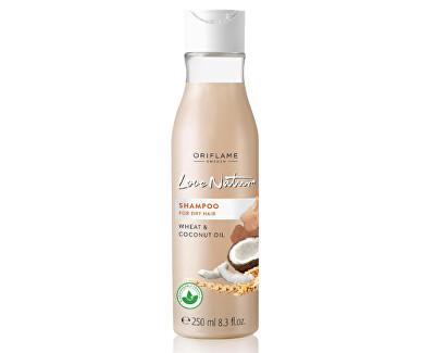 Šampon pro suché vlasy s pšenicí a kokosovým olejem Love Nature (Shampoo Wheat & Coconut Oil) 500 ml