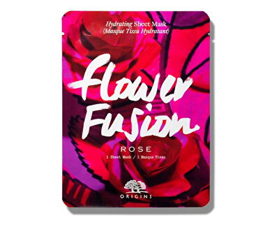Mască pentru hidratarea pielii Trandafir Flower Fusion(Hydrating Sheet Mask) 1 bucata