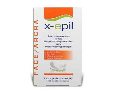 Depilační pásky na obličej pro citlivou pokožku X-Epil 6 x 2