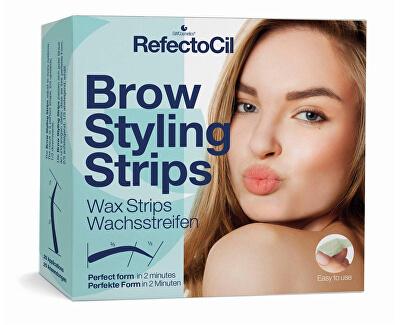 Depilační proužky na obočí (Brow Styling Stripes) 20 párů - SLEVA - poškozená krabička
