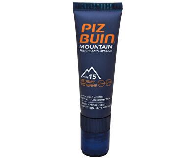 """Sluneční krém SPF 15 a ochranný balzám na rty SPF 30 2 v 1 (Mountain Combi """"2 in 1"""" Sun Cream a Lipstick) 20 ml + 2,3 ml"""