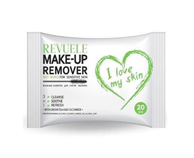 Șervețele demachiante pentru ochi si pentru pielea sensibilă  I Love My Skin (Wet Wipes For Bulldog Sensitive Skin) 20 bucăți