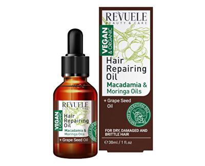 Olej s výtažky z makadamie a moringy Beauty & Care (Hair Repairing Oil) 30 ml