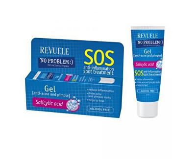 Pleťový gel proti akné No Problem (SOS Anti-Inflammation Spot Treatment Gel With Salicylic Acid) 25 ml