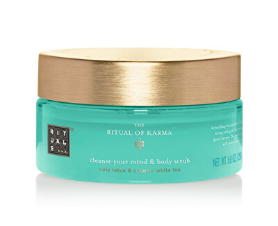 Tělový peeling The Ritual Of Karma (Cleanse Your Mind & Body Scrub) 250 g