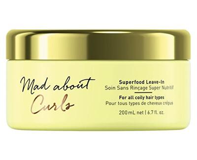 Bezoplachová kúra pre kučeravé vlasy Mad abouth Curl s (Superfood Leave-In) 200 ml