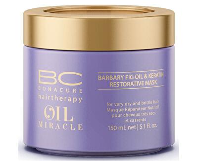 Ošetrujúce maska na poškodené vlasy BC Bonacure (Oil Miracle Barbary Fig & Keratin Mask) 150 ml