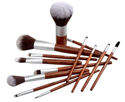 Rovný štětec na make-up s rukojetí z červeného dřeva Red Wood (Foundation Brush Flat)