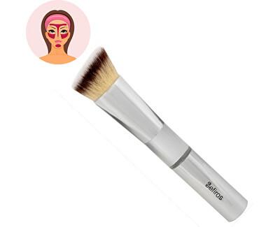 Šikmý štětec na make-up Silver (Foundation Brush Angular)