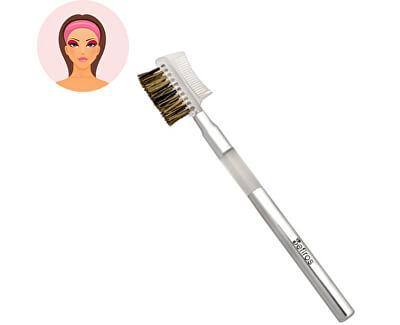 Štětec na řasy a obočí Silver (Eyelash Brush With Comb)