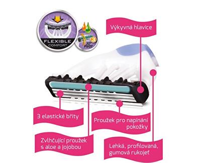 Aparat de ras de unică folosință pentru femei Wilkinson Xtreme3 Beauty Bulldog Sensitive 4 buc