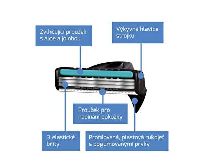 Jednorázový holicí strojek pro muže Wilkinson Xtreme3 Black 4 ks