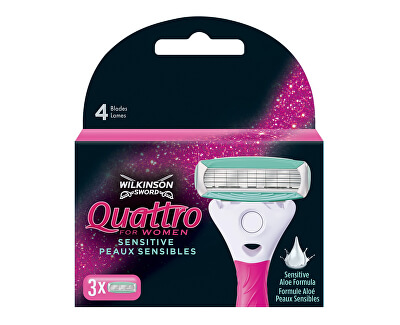 Cap de rezervă Wilkinson Quattro for Women 3 buc