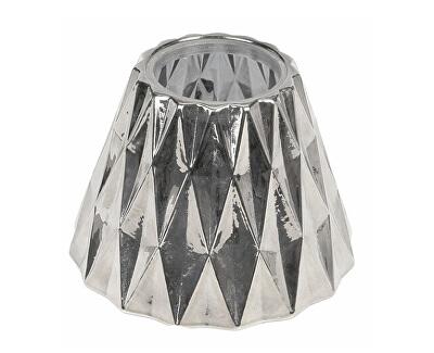 Abajur argintiu pentru lumânările medii