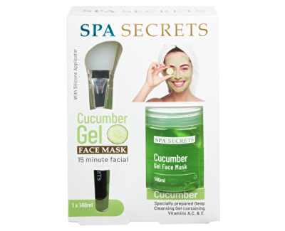 Mască de față cu gel cu aplicator SPA Secrets Cucumber (Gel Face Mask) 140 ml