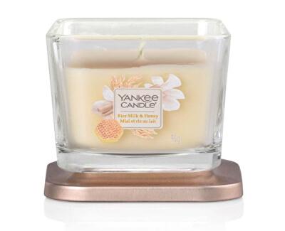 Aromatická svíčka malá hranatá Rice Milk & Honey 96 g